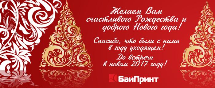 Поздравляем с Новым Годом и Рождеством! Удачи в 2017 году!
